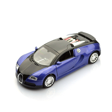 Electronic Alloy Pullback Bugatti Veyron Promo Models Luxurious Car Diecast Toy, Retail Box Birthday Gift to Children for Boy(China)