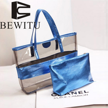BEWITU 2017 New Transparent Parcels Crystal Jelly Korean Side Shoulder Bag Casual Handbag Beach Travel Women Bag Large Capacity