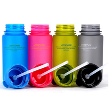 PURANKA My Gift Water Bottle 400ml Leak Proof Seal With Straw For Kids Travel School bottle Blue Pink Green Gray(China)