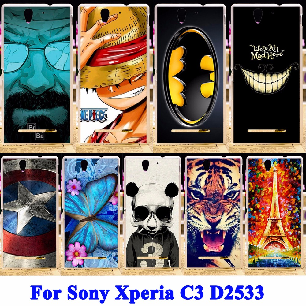 Soft TPU & Hard PC Mobile Phone Shield Covers For Sony Xperia C3 Cases D2533 C3 Dual D2502 S55T S55U Shell Hood Skin Housing Bag(China (Mainland))