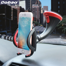 Cobao Car cellphone holder Desktop mobile phone Stand Car Windshield Suction Cup Sticky stand For iphone5 5s 6 6s 7