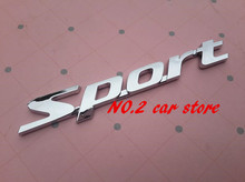 2015 Hot sale Sport Letter logo 3D Car Stickers Emblem Badge rear Decals Auto accessories(China)