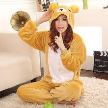 RILAKKUMA пижамы Медведь Ползунки Япония костюм жирафа Пижама в стиле аниме  пижамы женские Sleepwea 4b9ffdc2c8e1b