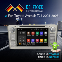 2G RAM Android 7.1 Car Radio GPS Navigation Multimedia Stereo DVD Player For Toyota Avensis T25 2003-2008 Auto Video Headunit(China)