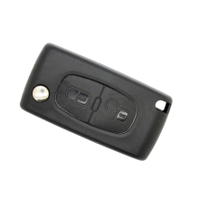 Uncut Replacement Blank Remote Key Shell Case with LOGO for 2 Buttons Key Cover Peugeot 107 207 307 307S 308 407 607