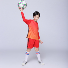 Boys Survetement Football Jerseys Girls Long Sleeve Sports Team Uniforms Kits Youth Kids Blank Soccer Sets Training Suits 2017