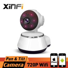 XINFI HD 720P Wireless Home Security Camera Mini Wifi Camera 3.6mm lens Smart Baby Monitor Mobile Remote Cam for iPhone/Android(China)