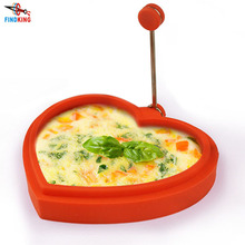 FINDKING brand kitchen tools heart shape Silicone Egg Mold Egg Omelette device Cooking Tool Mould with Metal Handle(China)