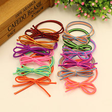 20pcs/lot Rubber Bands Elastics Tie Gum 2016 New Fashion Black Bowknot Hair Holder Girls' Women's Hair Accessories Free Shipping(China)