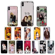 Yinuoda BLACKPINK ROSE Kpop Black TPU Мягкий силиконовый чехол для телефона iPhone X XS MAX 6 6 S 7 7 plus 8 Plus 5 5S XR(China)