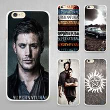 Supernatural Hard White Cell Phone Case Cover for Apple iPhone 4 4s 5 5C SE 5s 6 6s 7 Plus