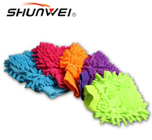 Chenille Car Wash Gloves,Double-sided Auto Cleaning Cloth Gloves,Microfiber Hand Car Wash Supplies