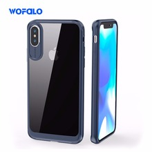 Wofalo transparent back Premium Hybrid Bumper Clear Case Scratch-Resistant Protective Cover for Apple iPhone X iPhone 10 case(China)