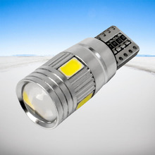 T10 501 194 168 W5W 6 LED 5630 SMD CANBUS ERROR FREE Pure White Red blue yellow Car Auto Side Wedge Parking Lights Lamp Bulb 12V