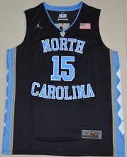 2016 NIKE  North Carolina Tar Heels Vince Carter 15 College Ice Hockey  Jersey - Black size S M L XL 2XL 3XL 2016 ACC Patch