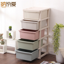 2017 Storage box Modern Square 65l Glossy Organizador Cabinet Drawers big Plastic office accessories Macaron Drawer Organizer