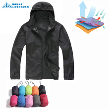 2017 Camping Trekking Windbreaker New Men Women Hiking Jacket Outdoor Sports Quick Dry Brand Clothing Waterproof UV Skin Coats