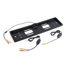 Wireless Car Backup Licence Plate Frame Rear View Parking Reverse Camera(China)