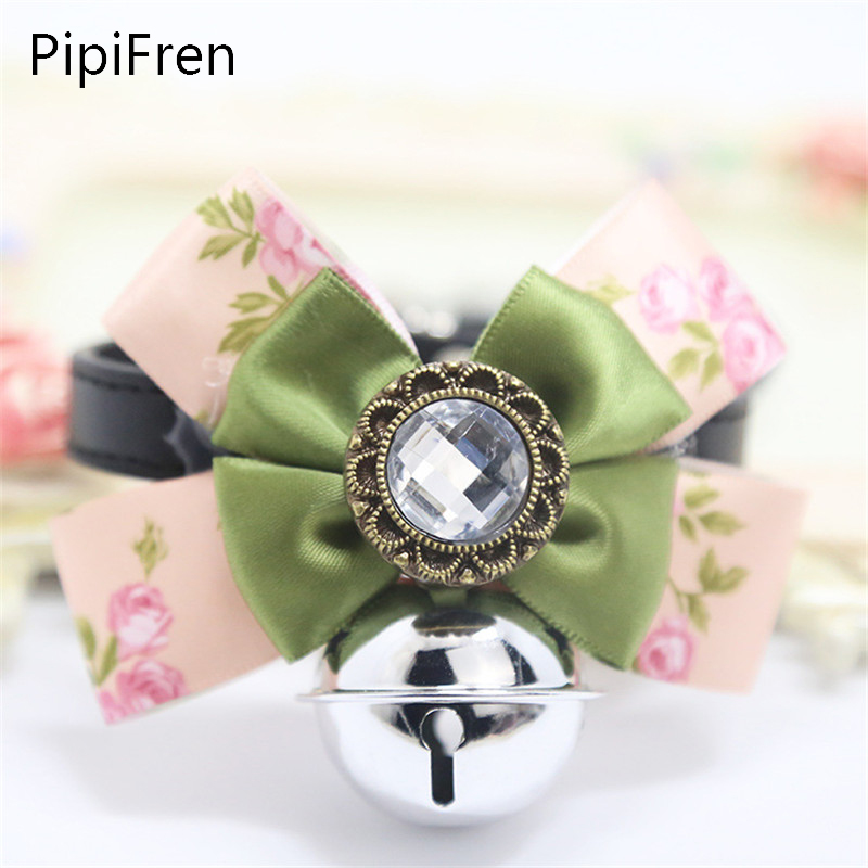 PipiFren Cats Bows Ties Bell Cute Fashion Pets Shop Grooming Accessories For Dogs Products Mascota Collier chien pajarita perro(China (Mainland))