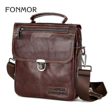 Brand Men's Handbags Vintage Genuine Leather Shoulder Bags High Quality Briefcase For Men Business Tote ipad New Crossbody Bags(China)