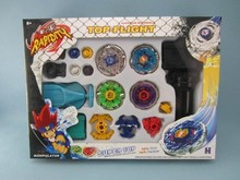 Kids Beyblade Spinning Tops Rapidity Fight Master Rare Beyblade Top Metal Master Rapidity Fight Rare Beyblade 4D Launcher Grip(China)