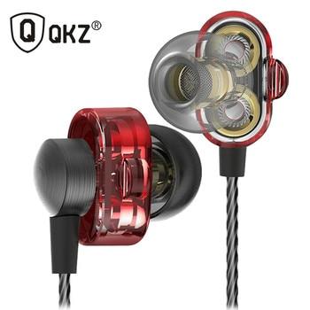 Écouteurs QKZ DM8 Mini Double Pilote D'origine hybride double dynamique pilote in-ear écouteur mp3 DJ Casque fone de ouvido auriculares