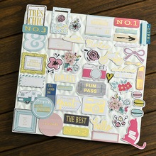 KSCRAFT 40pc Travel Recorder Cardstock Die Cuts for Scrapbooking Happy Planner/Card Making/Journaling Project