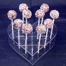 21 Holes Cake Pops Acrylic Display Stand Base Lollipop Holder Clear