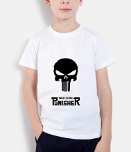 the punisher skull kids t shirts 2017 new brand clothing hot sale baby girl clothes summer fashion funny children top streetwear