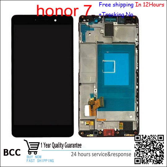 White,Black or golden For Huawei Honor 7 LCD Display with Touch Screen Digitizer Assembly with frame Free shipping Test Ok+Track<br>
