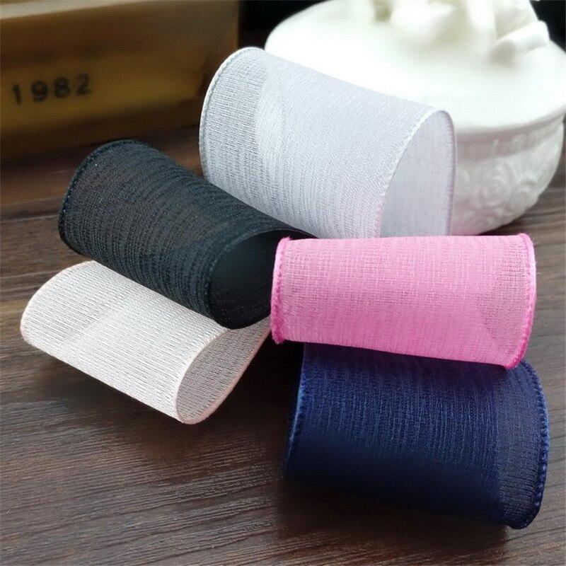 5meter/lot new 38mm seamed snow yarn ribbon diy handmade hair accessory bow hairpin material organza ribbonT-064