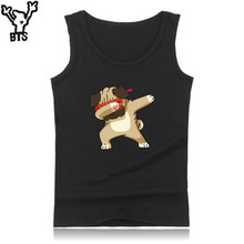 Buy BTS Funny Animal Workout Tank Top Men Black Sleeveless Tank Top Men Bodybuilding Funny Dog Printed Casual Summer Vest O-Neck Top for $7.67 in AliExpress store