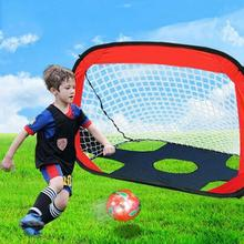 Children Portable Football Target Shot Goal Net Door Gate Kids Dual-use Foldable Football Game Gate