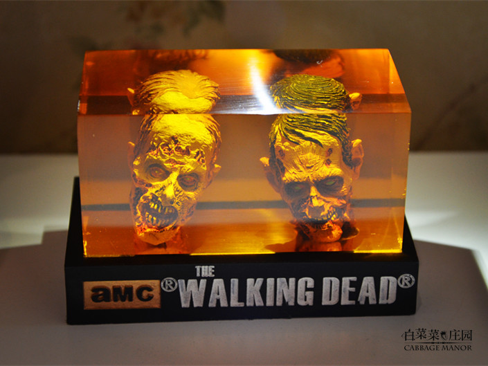 The Walking dead action Figure  zombie Figures head Resin crystal car ornament home desk Decoration furnishing articles<br><br>Aliexpress