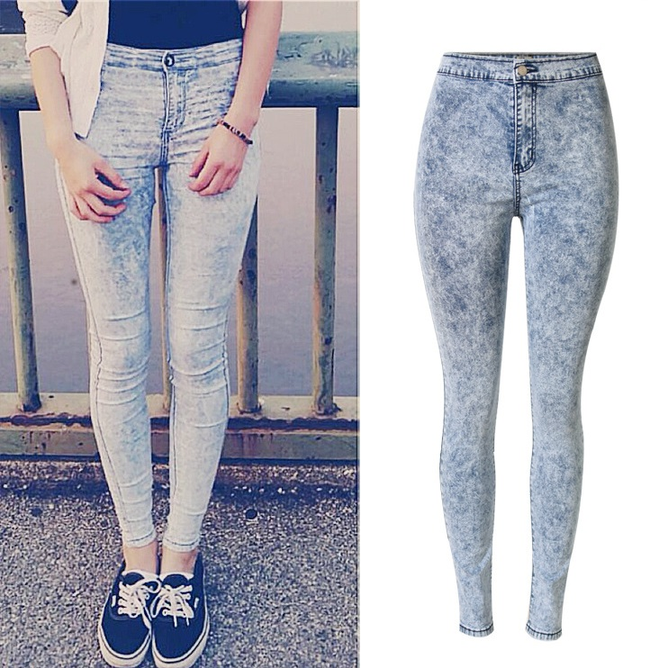 2017 New Fashion Super Quality Woman High Waist Jeans Ladies Skinny Jean Slim Femme plus size easy jeansОдежда и ак�е��уары<br><br><br>Aliexpress