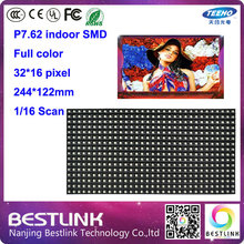 p7.62 led module 32*16 pixel 244*122mm 16 scan rgn led panel for indoor full color led stage screen led sign advertising board
