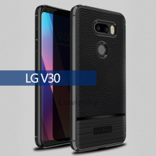 Buy Luxury Brand Original Shockproof Armor Cover LG V30 Case Soft Leather Carbon Fiber Ultra Slim TPU Case LG V30 Cover for $2.99 in AliExpress store