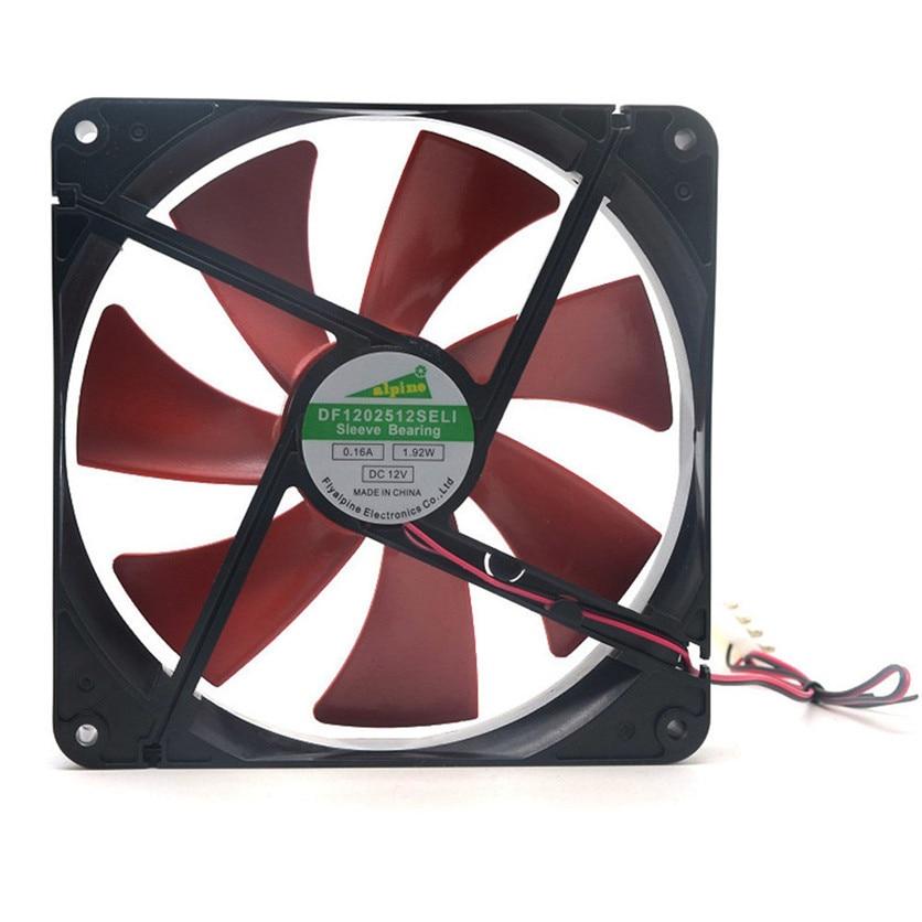 Drop shippingSimpleStone  Best silent quiet 140mm pc case cooling fans 14cm DC 12V 4D plug computer cooler June08<br><br>Aliexpress