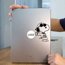 Cool Puppy Dog Laptop Sticker for Apple iPad Decal Air / 1 /2 / 3 / 4 /  iPad mini Surface Book Tablet PC Skin Notebook Stickers