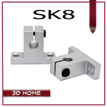 Free Shipping 4PCS linear rail shaft 8mm SK8 SH8A Linear Rail Shaft Support XYZ Table CNC and for 3D printer sliding table