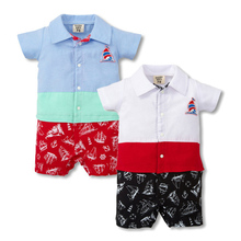 Toddler Boys Rompers Cotton Baby Boy Clothes Hawaii Style Beach Wear Roupas Bebe Kids Jumpsuits Summer Baby Boy Romper(China)