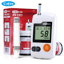 Yili Blood Glucose Meter with 50/100pcs Test Strips and Lancets Needles of Cofoe for Diabetic Medical Monitor Glucometer(China)