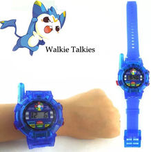 Hot Children Electric Toy Walkie Talkies Locke Kingdom Blue Red Color For Boy Girl Fun Kid Toy Time Cartoon Watch 1000M Distance(China)