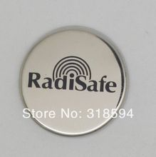 100PCS/LOT FREE SHIPPING wholesale stainless steel RadiSafe Radiation shield oringinal RadiSafe cell phone radiation sticker