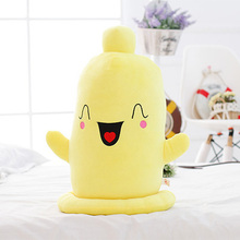 Buy high quality soft plush toy cartoon funny Condom 50cm toy soft pillow Christmas birthday gift ,d1071