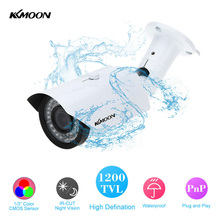 KKmoon High Quality Waterproof 1200TVL CCTV Security Camera Outdoor 2.8-12mm IR 42 LEDs Night Vision Bullet Surveillance Camera(China)