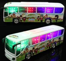 Hot Sale The New Toy Electric Music Bus Children Electric Model Car  Bus Toy  Model  Toys For Kids