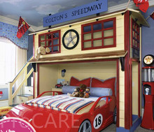 High quality best selling custom red car bed(China)