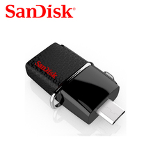 SanDisk Ultra Dual OTG USB Flash Drive 32gb 64gb 16gb SDDD2 130M/S USB 3.0 Pen Drives 128GB support 0fficial Verification