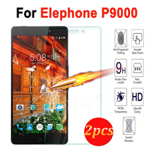 2PCS For Elephone P9000 P 9000 Tempered Glass Screen Protector Film For Elephone P9000 2.5D 9H Screen Protective Film Case Cover(China)